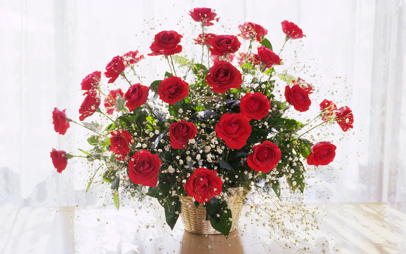 Red Abstract Bouquet Of Roses At The Window X 446343 Wallpaper wallpaper