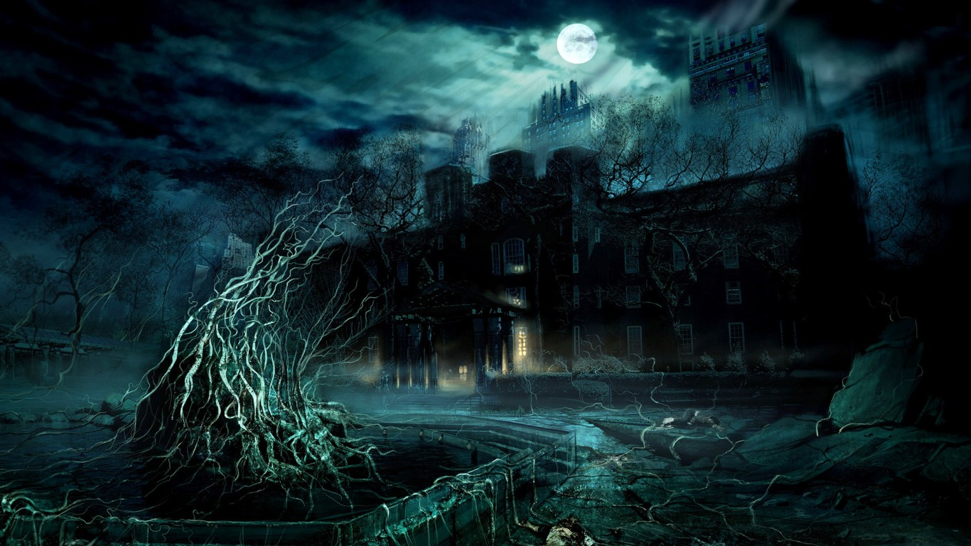 Dark Anime House Moon Hd Jootix 264587 Wallpaper wallpaper