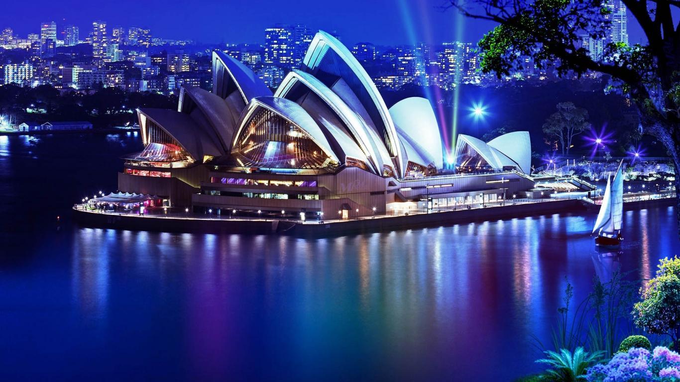 Architecture Sydney Opera House At Night Australia 174684 Wallpaper wallpaper