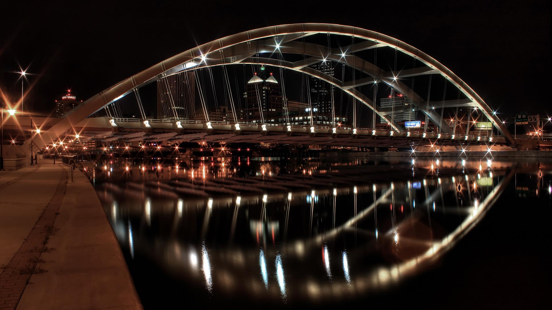 Architecture Free With Bridge Bridges Night 672923 Wallpaper wallpaper