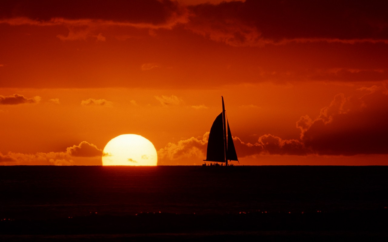 Sailboat Free Sunset Hd 101062 Wallpaper wallpaper