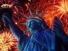 Architecture Statue Of Liberty And Fireworks Display 179137 Wallpaper wallpaper
