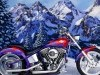 Motorcycles Choppers Bikes Nature Trees Snow Mountains 249820 Wallpaper wallpaper